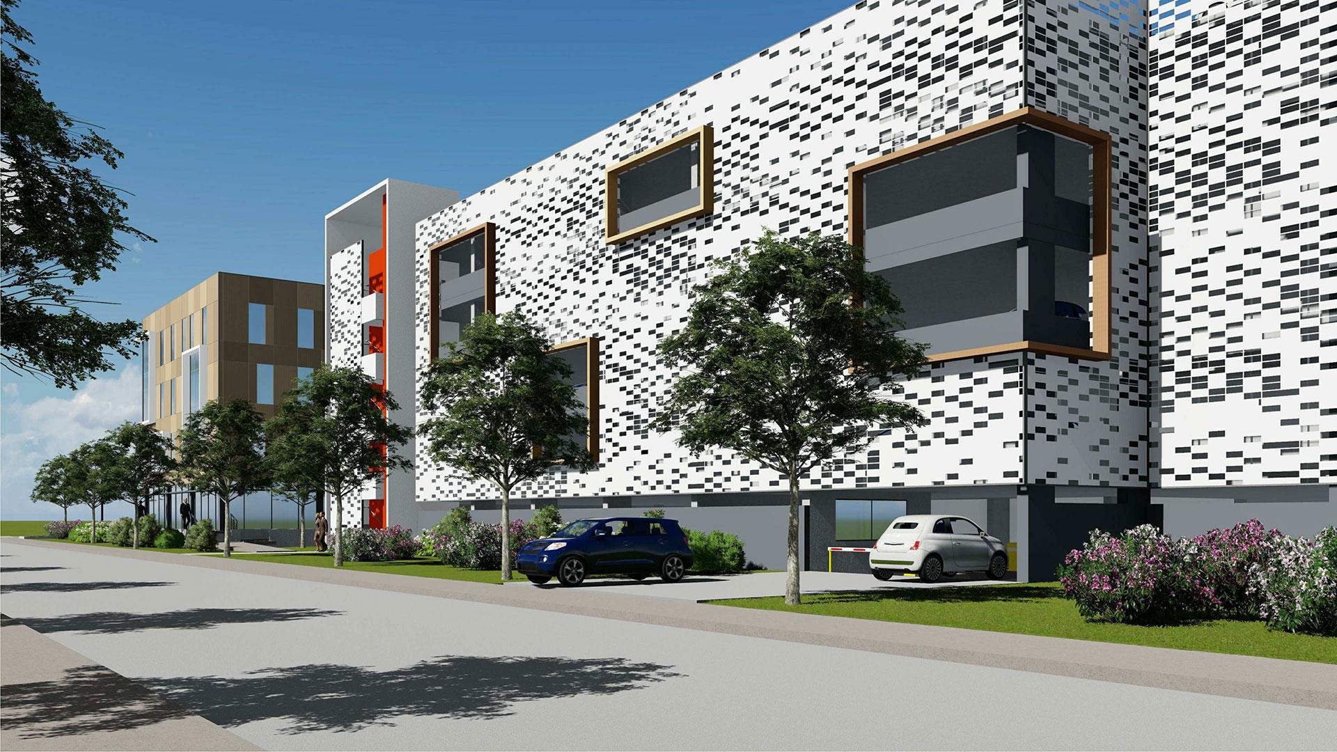 Construction d'un parking en silo Georges Besse par Tisspark & Facilities à Nîmes